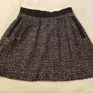 French Connection Tweed Skirt - Navy and Pink